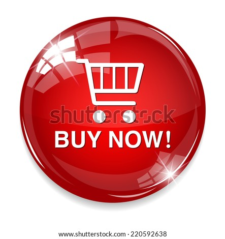 buy now  e-commerce buttons and icons - stock vector