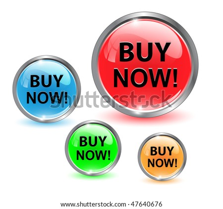 Buy now icon, button, vector illustration. - stock vector
