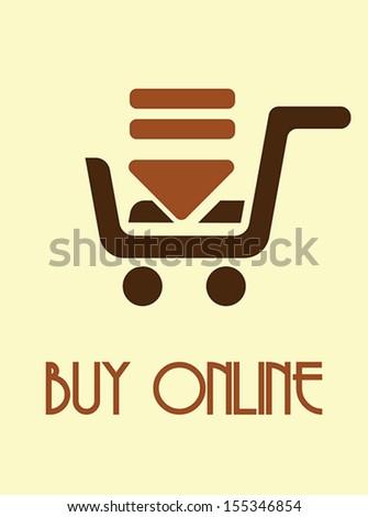 Buy online poster - stock vector