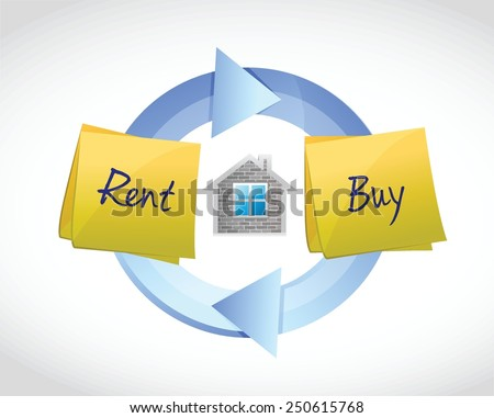 buy or rent real estate concept illustration design over a white background - stock vector