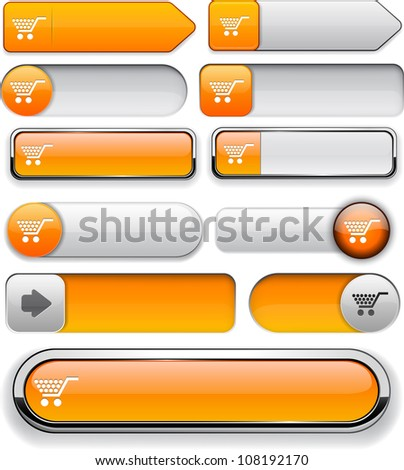 Buy orange design elements for website or app. Vector eps10. - stock vector