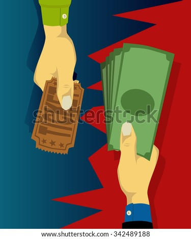 Buy tickets directly - stock vector