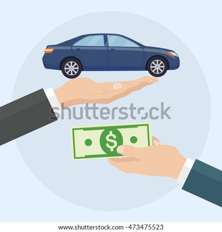 Buying Car Concept Auto Hire Sale Stock Vector 473475523