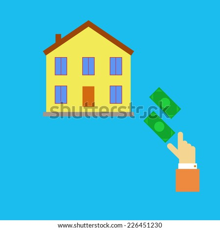 Buying real estate. Vector illustration. - stock vector