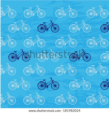 Bycicle background  - stock vector