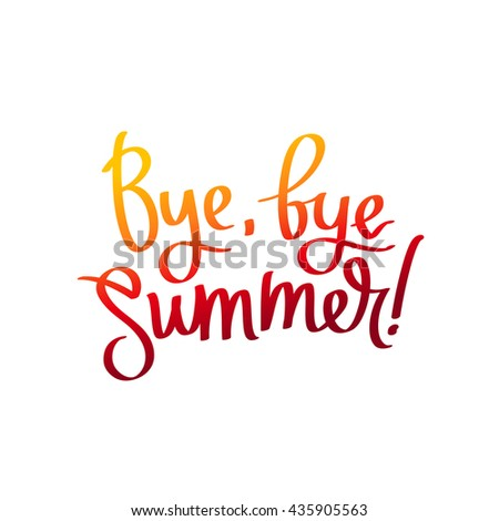 Goodbye Summer Stock Images, Royalty-Free Images & Vectors ...
