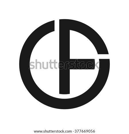 c f logo vector stock vector 377669056 shutterstock