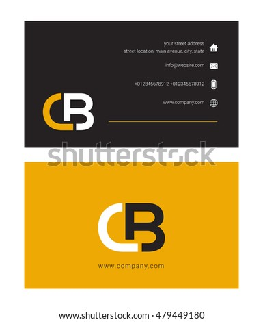 C b letter logo business card stock vector hd royalty free c b letter logo with business card thecheapjerseys Gallery