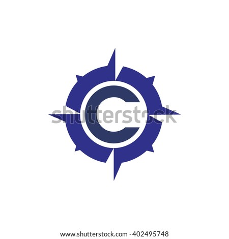 c compass logo - stock vector