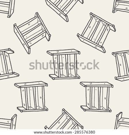 cabinet doodle seamless pattern background