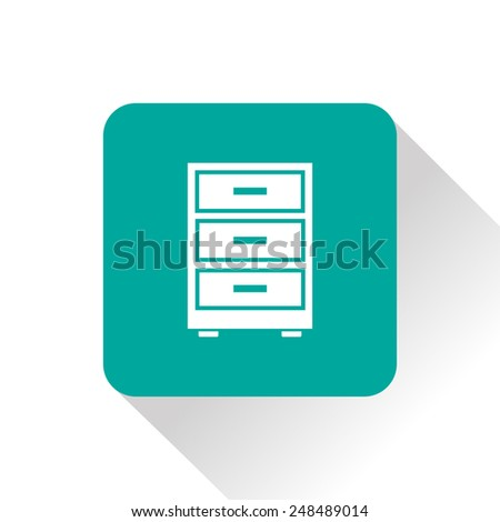 cabinet icon - stock vector