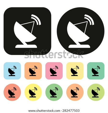Cable Tv Icon Communication Technology Icon Stock Vector 282477503