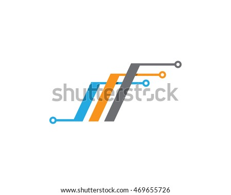 Cable wires wiring logo template vector icon  sc 1 st  Shutterstock : wiring logo - yogabreezes.com