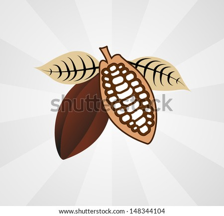 Cacao Bean Icon - stock vector