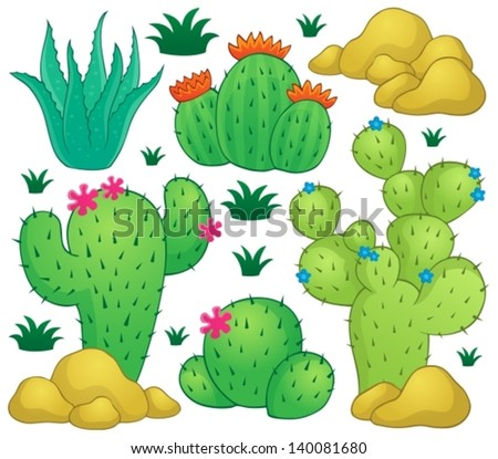 Cactus theme image 1 - eps10 vector illustration. - stock vector