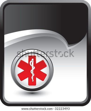caduceus medical symbol on rip curl background - stock vector