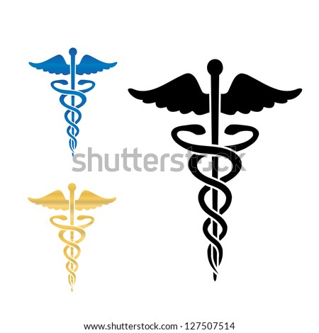 Caduceus medical symbol vector illustration.eps10 - stock vector
