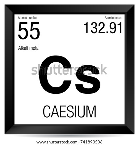 Caesium symbol element number 55 periodic stock vector 741893506 caesium symbol element number 55 of the periodic table of the elements chemistry urtaz Gallery