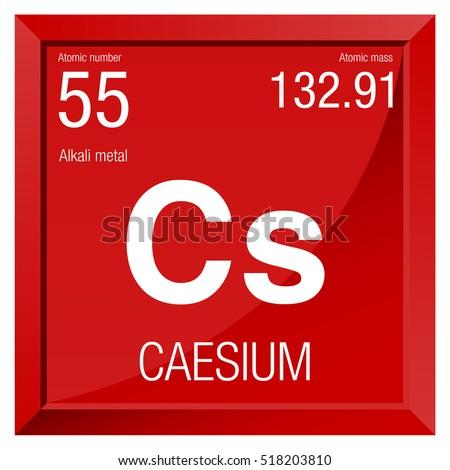 Caesium symbol element number 55 periodic stock vector 518203810 caesium symbol element number 55 of the periodic table of the elements chemistry urtaz Gallery