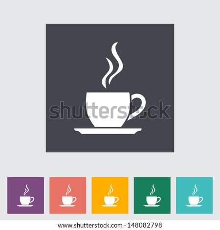 Cafe flat single icon. Vector illustration. - stock vector