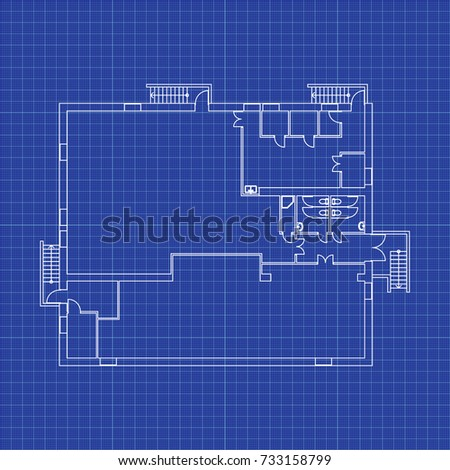 Cafe floor plan without furniture your stock vector 733158799 cafe floor plan without furniture for your design vector blueprint modern architectural background malvernweather Gallery