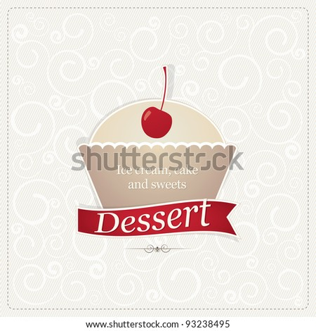 Cafe label, or cover menu - stock vector