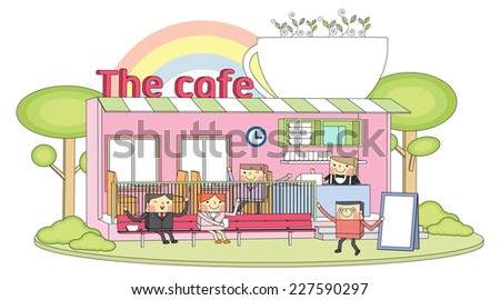 cafe line character