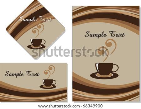cafe menu card - stock vector