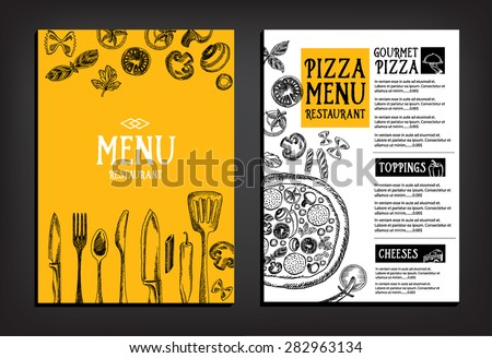Cafe menu restaurant brochure. Food design template. - stock vector
