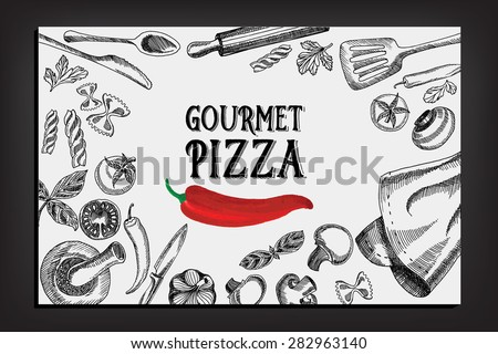 Cafe Menu Restaurant Brochure Food Design Stock Vector 281547986