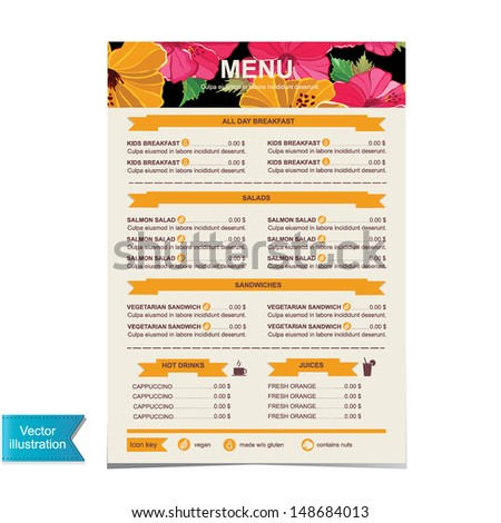 Cafe Menu Template Stock Images RoyaltyFree Images  Vectors