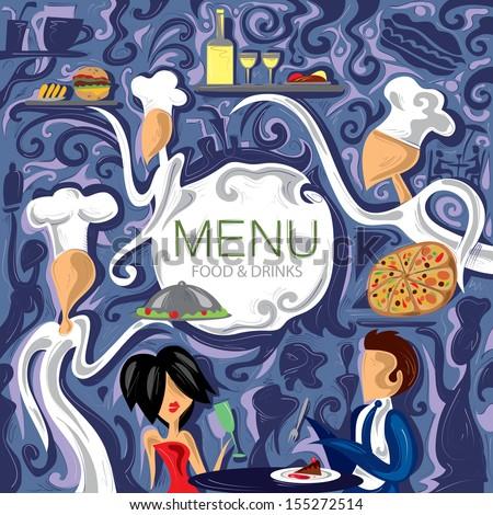 Cafe Restaurant Menu - stock vector