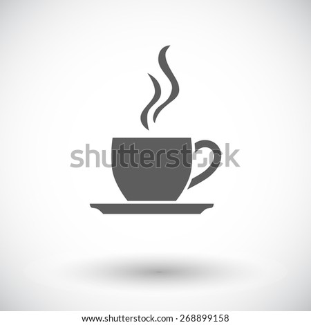 Cafe. Single flat icon on white background. Vector illustration. - stock vector