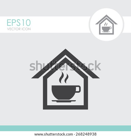 Cafe vector icon. - stock vector