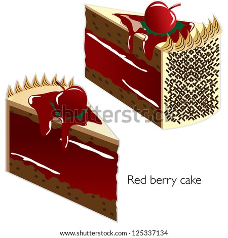 Red Cake Clipart : Gallery For > Red Velvet Cake Clipart