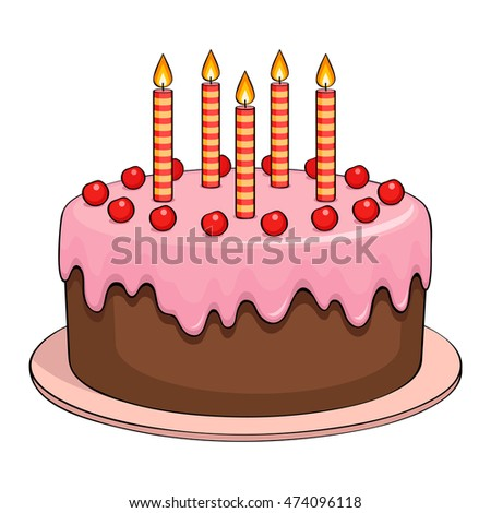Cake With Icing Vector : Cake Icing Stock Images, Royalty-Free Images & Vectors ...