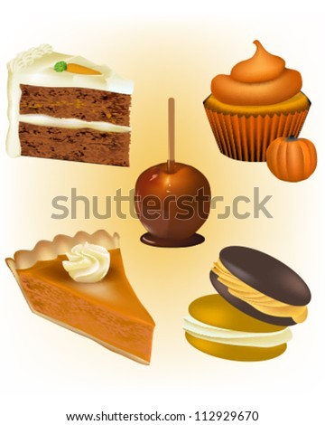 Cake and Pastry Vectors - Thanksgiving