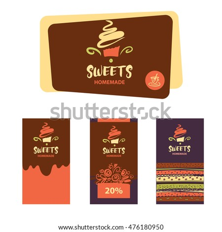 Cake sweet shop logo homemade dessert stock vector 476180950 cake and sweet shop logo homemade dessert element of design for corporate identity reheart Choice Image