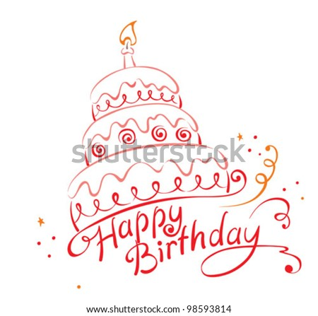 birthday cake stock images, royaltyfree images  vectors, Beautiful flower