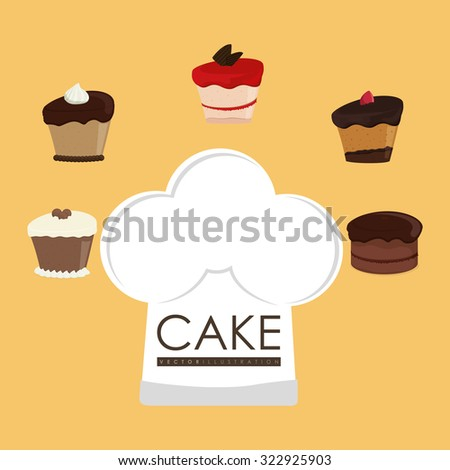 Cake concept and menu icons design, vector illustration 10 eps graphic.