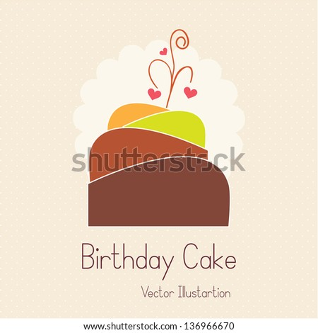 Cake  & Cupcakes icons ( concepts, labels, & cards) - stock vector