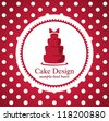 cake design - stock vector