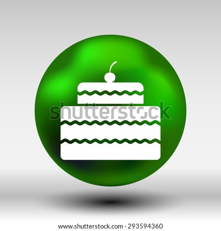 Cake Design symbol logo dessert food sweet.