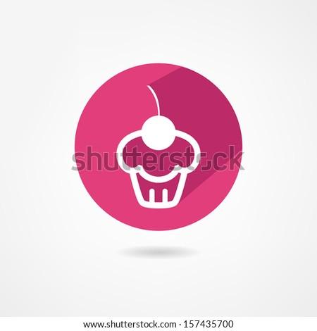 cake icon - stock vector