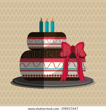 Cake icon design, vector illustration