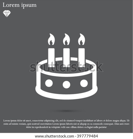 Birthday Cake Carbon Icons Professional Pixelaligned Stock Vector