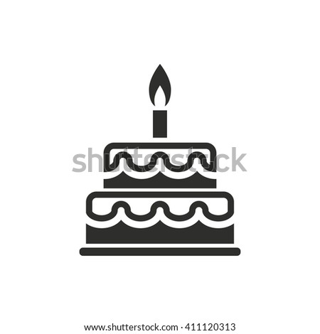 Cake Vector Icon Black Illustration Isolated Stock Vector 411120313