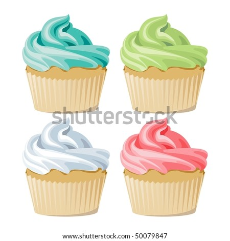 Cakes - stock vector