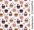 cakes seamless pattern - stock vector
