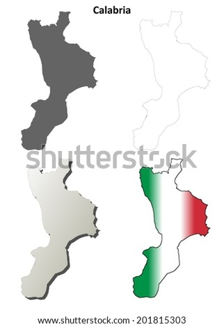 Catanzaro Province Map Stock Images RoyaltyFree Images Vectors